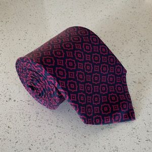 Burberry Navy Geometric Tie